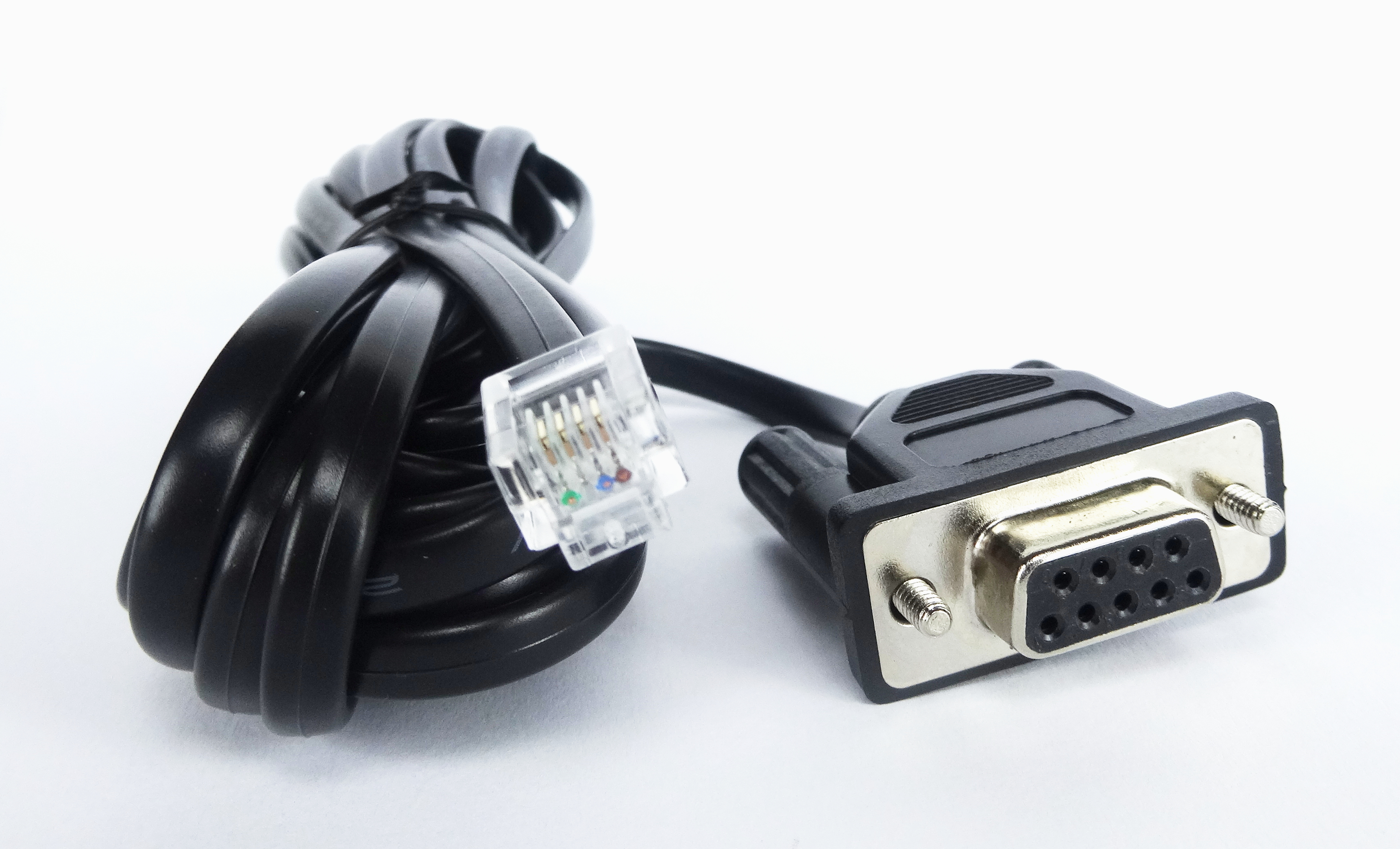 rs232 (9 pin (f)) to rj11 connector, Wiring diagram